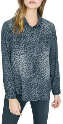 Sanctuary Boyfriend Forever Leopard Print Shirt