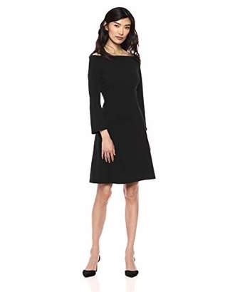 Lark & Ro Women's Off the Shoulder Fit and Flare Dress