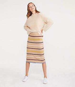 Lou & Grey Brightstripe Midi Sweater Skirt