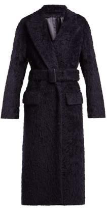 Joseph Paddington Belted Alpaca Blend Coat - Womens - Navy