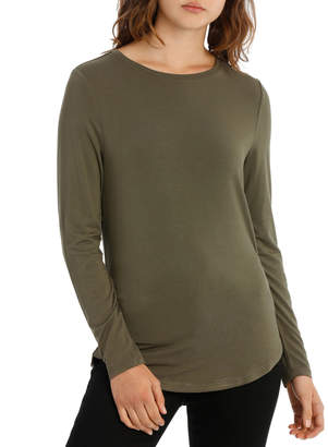 Tee With Crewneck Rounded Hem Detail Fitted PW18003/P