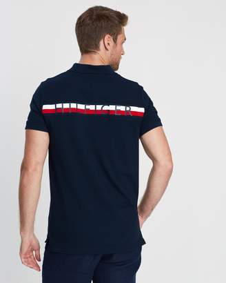 Tommy Hilfiger Global Stripe Insert Slim Polo