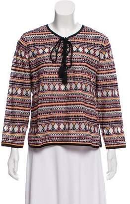 Antik Batik Long Sleeve Embellished Top