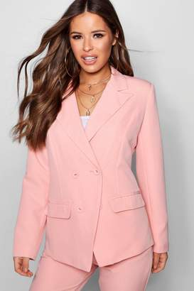 boohoo Petite Double Breasted Woven Co-Ord Blazer