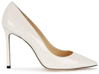 Jimmy Choo Romy White Patent Leather Pumps