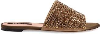 Rochas Crystal-embellished satin slides