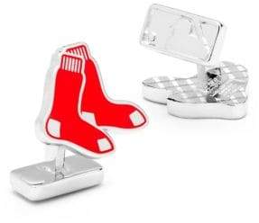 Cufflinks Inc. MLB Silvertone Boston Red Sox Cuff Links