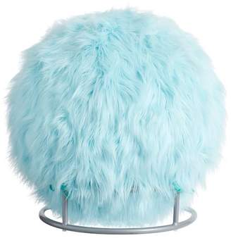 Pottery Barn Teen Exercise Ball Chair, Himalayan Plume Faux-Faux-Fur