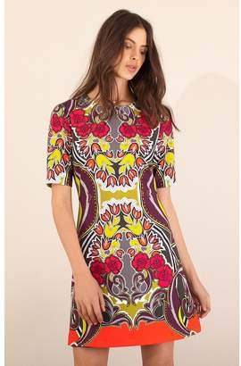 Hale Bob Rosamund Crepe Floral Dress