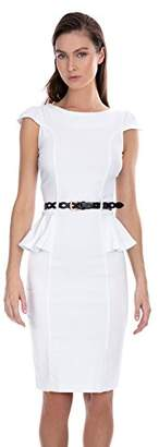 XOXO Ladies Apparel Junior's Womens Belted Peplum Sheath Dress