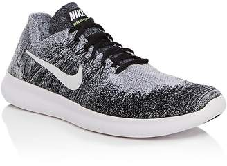 Nike Men's Free RN Flyknit Lace Up Sneakers $120 thestylecure.com