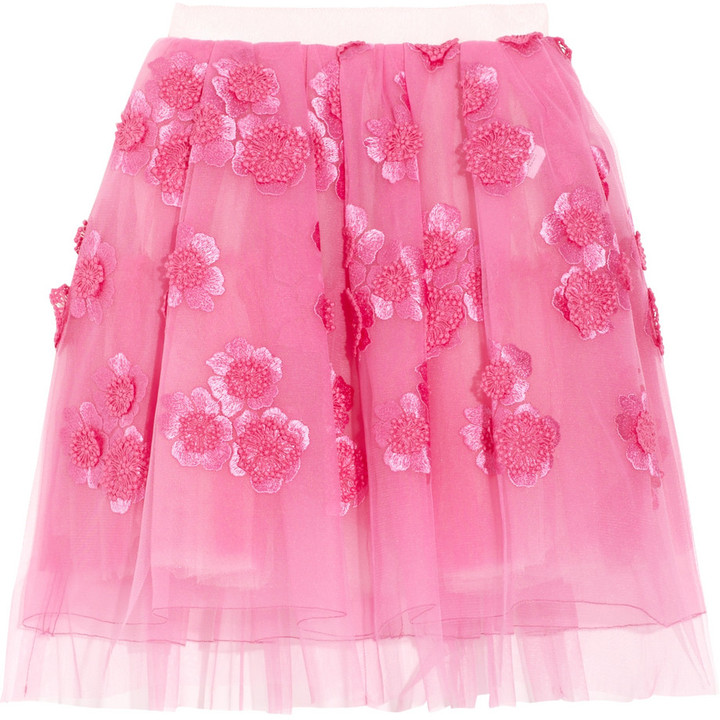 Marc Jacobs Embroidered tulle mini skirt