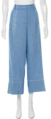 Ermanno Scervino High-Rise Chambray Pants