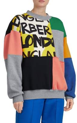 Burberry Fluvial Graffiti Print Sweatshirt
