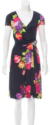 Blumarine Silk Floral Print Dress