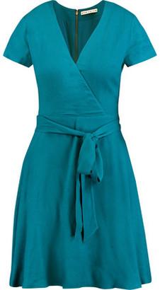 Alice + Olivia Adrianna Wrap-Effect Jersey Dress $265 thestylecure.com