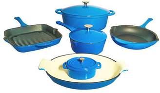 Le Chef Cookware Le Chef 9-Piece ALL Enamel Cast Iron Cookware Set