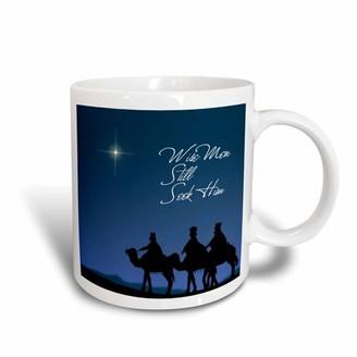 3dRose Wise men still seek Him Magi following the Christmas star , Ceramic Mug, 11-ounce