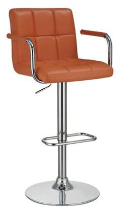 Coaster Company Coaster Orange Adjustable Bar Stool