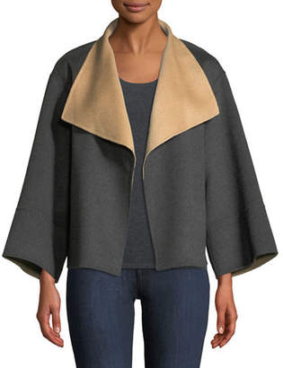 Neiman Marcus Reversible Luxury Double-Face Cashmere Jacket