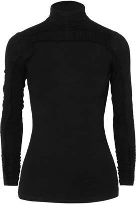 Preen Line Zahara Ruched Stretch-jersey Turtleneck Top - Black