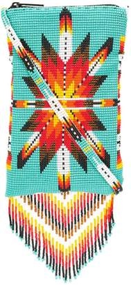 Jessie Western beaded fringes crossbody bag
