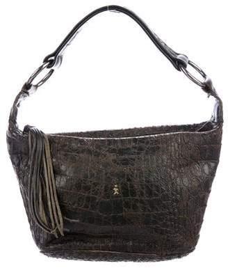Henry Beguelin Embossed Leather Handle Bag