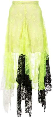 Christopher Kane NEON LACE SKIRT