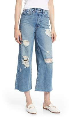 Habitual Jetti Ripped High Waist Crop Flare Jeans