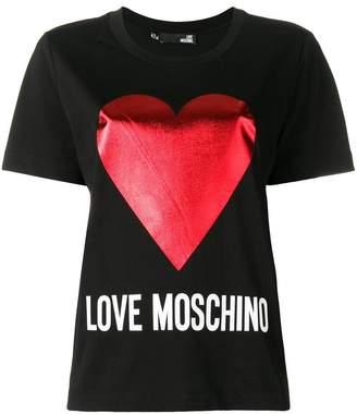 Love Moschino logo heart T-shirt