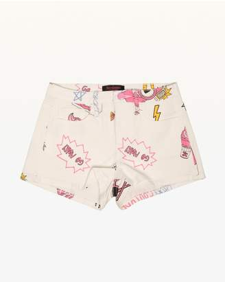 Juicy Couture Beach Doodle Denim Short for Girls
