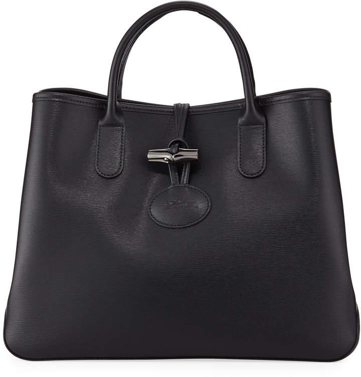 Longchamp Roseau Leather Top-Handle Tote Bag