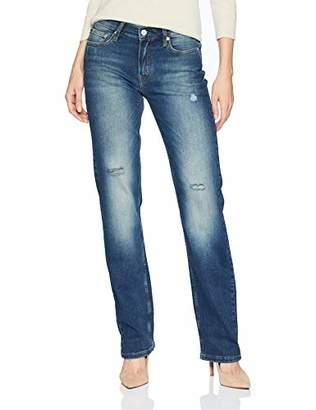 Calvin Klein womens CKJ 031 Mid Rise Straight Fit Jean