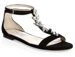 Jimmy Choo Averie Embellished Suede Sandals
