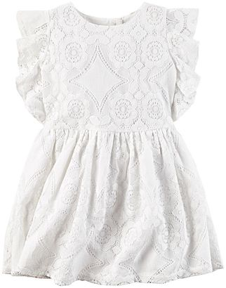 Toddler Girl Carter's Geo Lace Dress $42 thestylecure.com