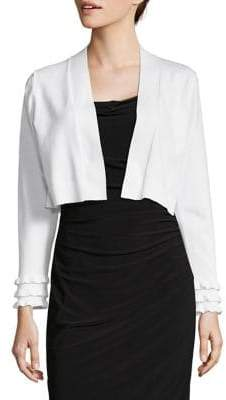 Calvin Klein Open Front Cropped Cardigan