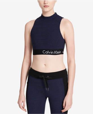 Calvin Klein Medium-Support Crisscross Back Scuba Sports Bra