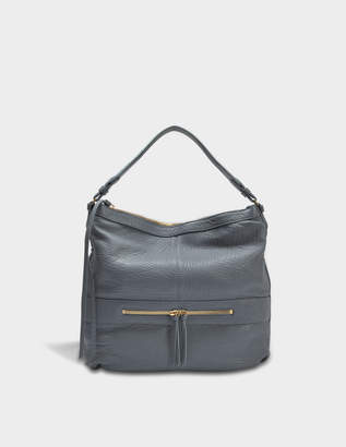 Gerard Darel Midday GD Hobo Bag in Baltic Lambskin Leather