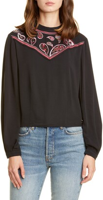 Ted Baker Colour by Numbers Embroidered Yoke Top