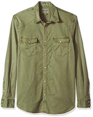 Lucky Brand Men's Casual Long Sleeve Workwear Western Button Down Shirt