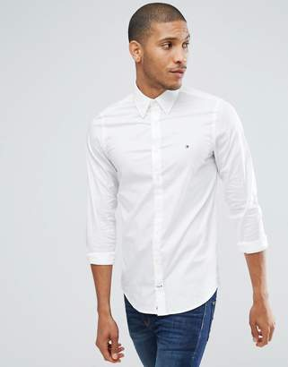 Tommy Hilfiger oxford shirt with stretch in slim fit in white