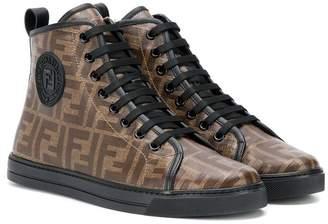 Fendi logo hi-top sneakers
