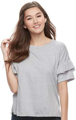 So Juniors' SO Double Ruffle Top