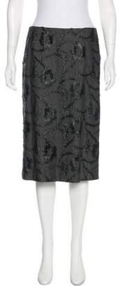 Barneys New York Barney's New York Embroidered A-Line Skirt