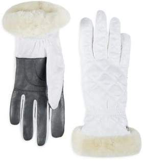 UGG All-Weather Quilted Shearling Gloves