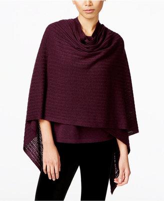Eileen Fisher Asymmetrical Serape Poncho $238 thestylecure.com