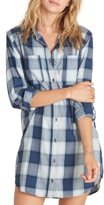 Women's Billabong Winter's Tail Plaid Shirtdress $54.95 thestylecure.com