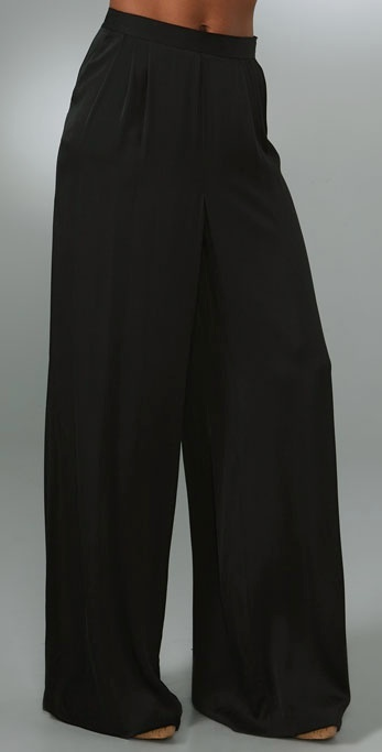 Catherine Malandrino Wide Leg Pants with Pleating