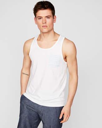 Express Scoop Neck Striped Pocket Tank