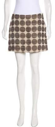 Milly Linen-Blend Mini Skirt w/ Tags
